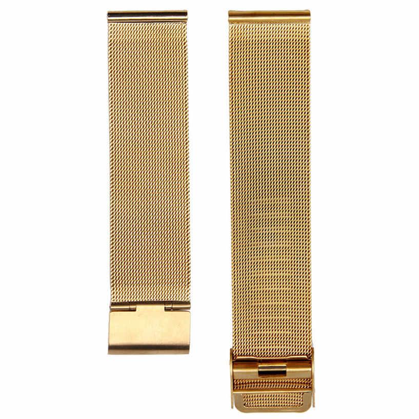 Muhteşem sıcak moda Milanese paslanmaz çelik 18mm kol saati bandı askısı toptan AUG26