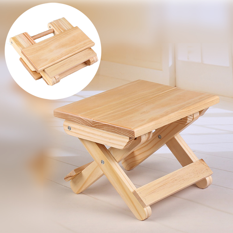 Baby Stool Foot Stool Kids Furniture Wooden Folding Chairs Sitting Stool Portable Outdoor Chair Camping Fishing Foldable Mini