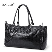 BAILLR Brand Men Messenger Bags High Quality Crocodile Pattern Crossbody Hand Bags Casual Men S Tote