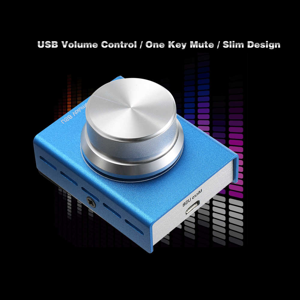 USB Volume Control Computer Speaker Audio Volume Controller Adjuster with One Key Mute Function for Mac/Linux/Vista/Android