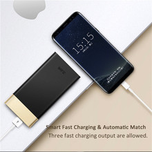 Ultra-thin 10000mAh QC3.0 Power Bank With LED Power Display Mobile External Phone Battery for Iphone 8 X Fast Charger