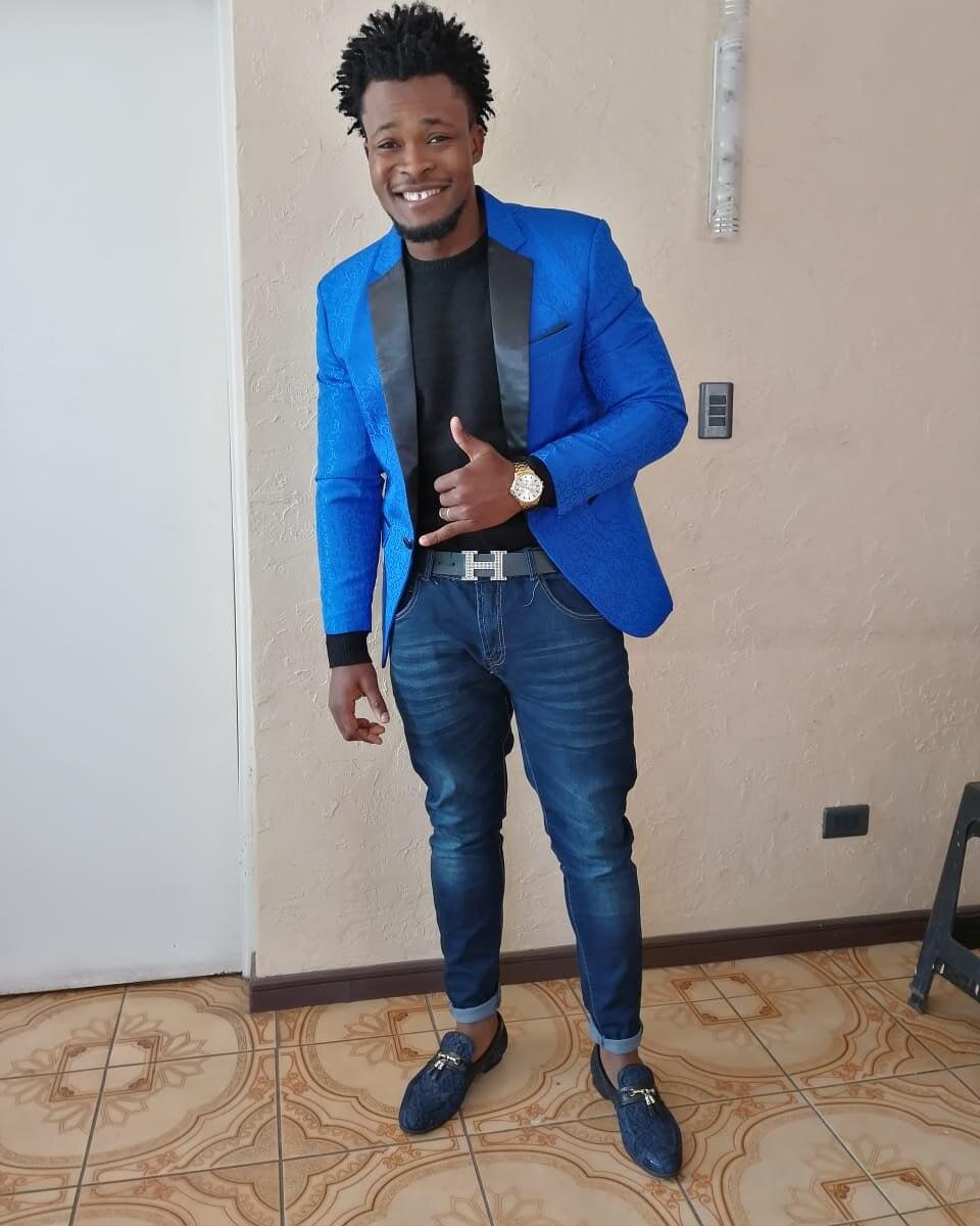 White Rose Jacquard Blazer Men 2018 Brand New Single Button Shawl Collar Mens Suit Jacket Blazers