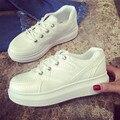 2016 Primavera Outono Moda de Nova Mulheres Casual Shoes Hot Sale Lace Up Respirável Tamanho (35-40) Preto branco Mulheres Sapatos Estudante l49 15