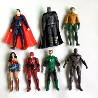 7Pcs Justice League superheros Marvel Action Figure Toys Batman superman wonder woman PVC Collection Figurine Toys model dolls