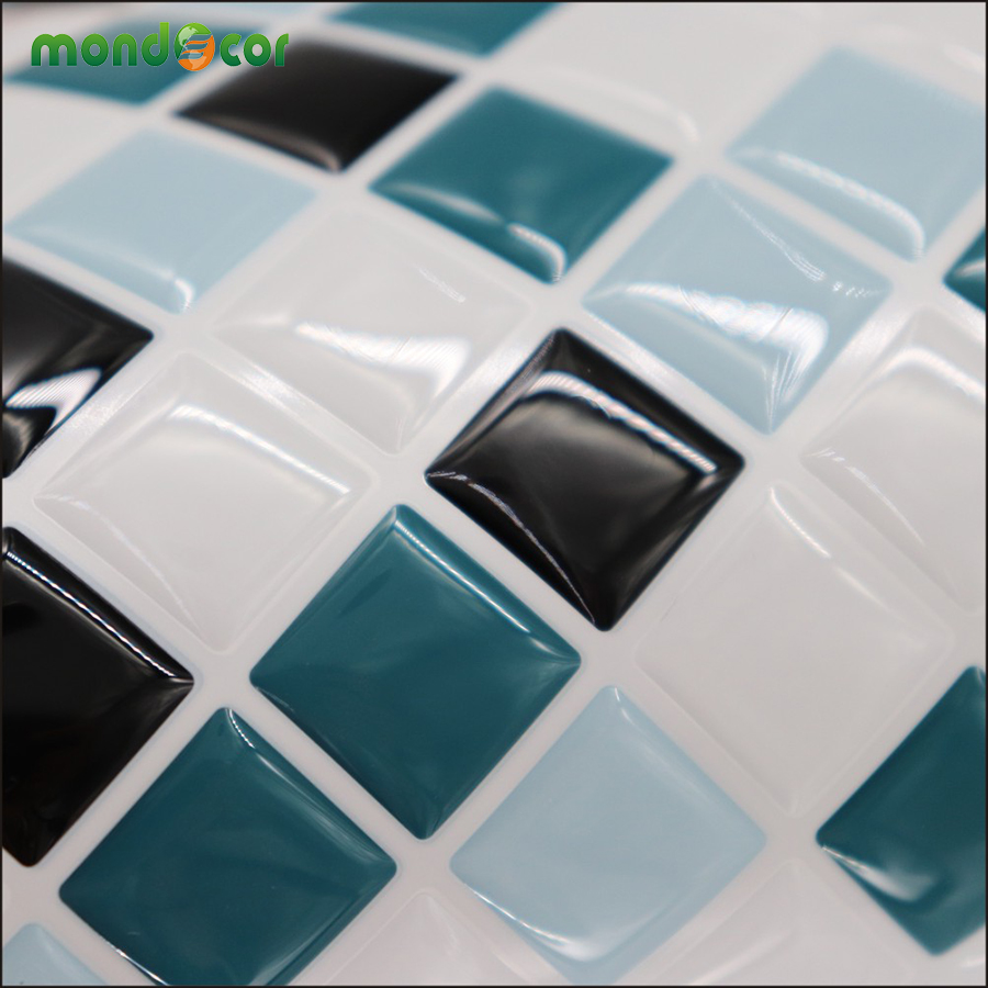 - Peel And Stick Wall Decal Self Adhesive Mosaic Tile Contact Paper