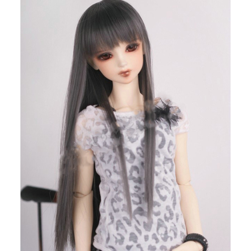 Cateleya doll accessories BJD SD doll hair can DIY hair Long straight hair can be DIY bangs brown black gray Wig free shipping