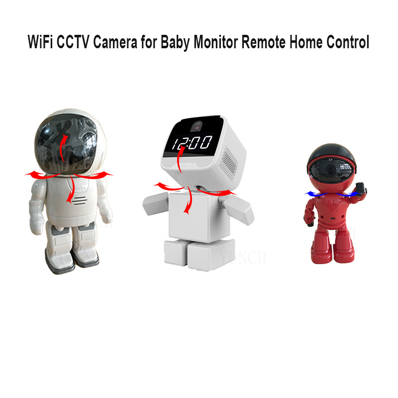 Clock Robot Wireless IP Security Camera with Onvif Surveillance Network WiFi CCTV Camera for Baby Monitor Remote Home Control new wireless remote control baby monitor with night vision intercom voice wifi network ip camera electronic for smart phone