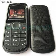 Для Nokia 1202 полный корпус Чехол передняя рамка с клавиатурой дисплей стекло+ средняя рамка+ задняя крышка с логотипом