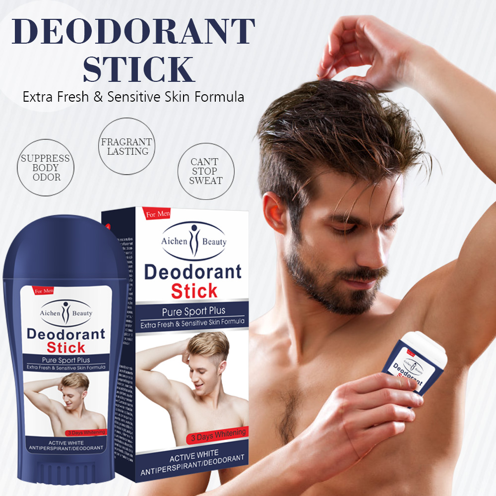 50ML Deodorant For Men Deodorant Stick Antiperspirant Stick Fragrance Deodorant Sweat Deodorant Underarm Removal Spirits Tool