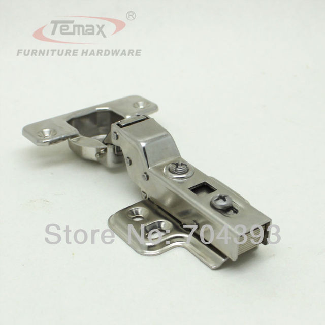 35mm Cup Half Overlay SS304 Stainless Steel Hinge For Cabinet Soft Closing Hydraulic Furniture