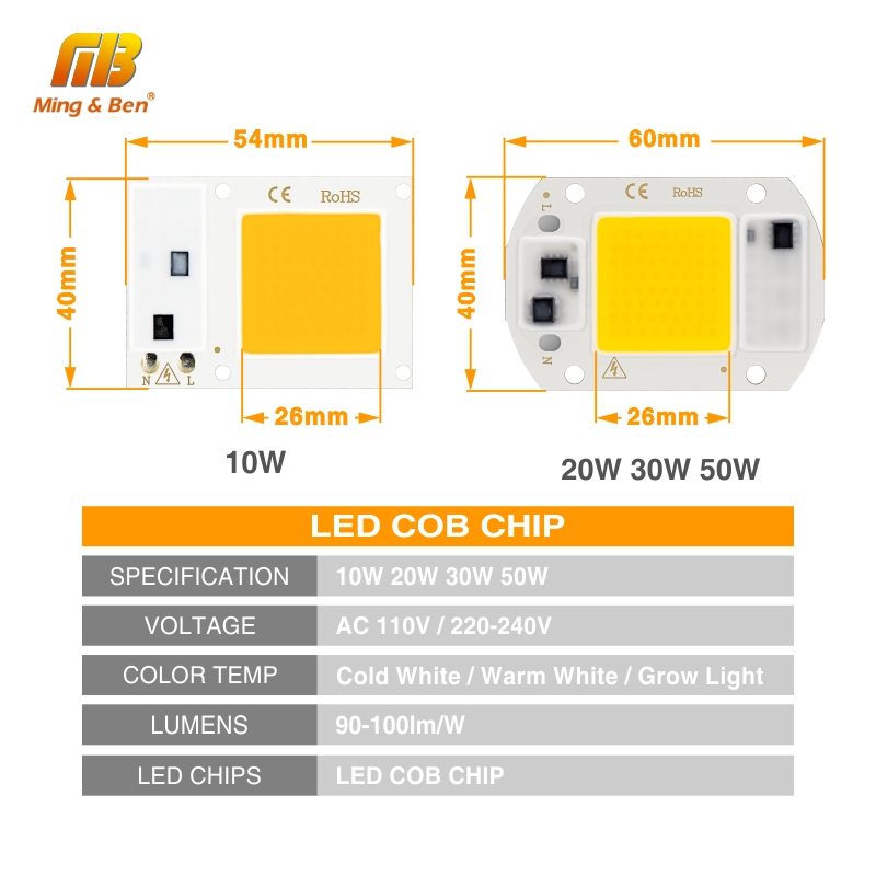 Image 2 - LED Grow COB Chip Phyto Lamp Full Spectrum AC220V 10W 20W 30W 50W For Indoor Plant Seedling Grow and Flower Growth Fitolamp-in Growing Lamps from Lights & Lighting