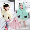 2016 moda bebé Combi muchachos capa de las muchachas guardapolvos infantiles de algodón Outwear Jumpers manto niños ropa Poncho cabo 42071