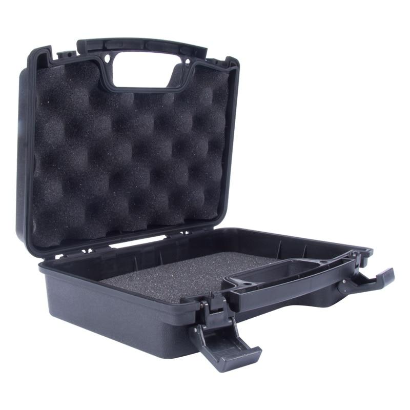 Tactical Pistola Arma de la Caja de Plástico Duro del ABS Assessoriers Forro Aco