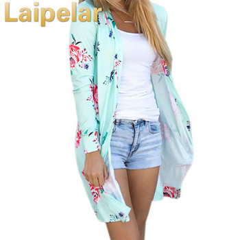 Laipelar Summer Coat Woman Kimono Jacket Casual Floral Cardigans Jackets Long Sleeve Loose Coat Tops Tee Tunic Mujer Femme 2018