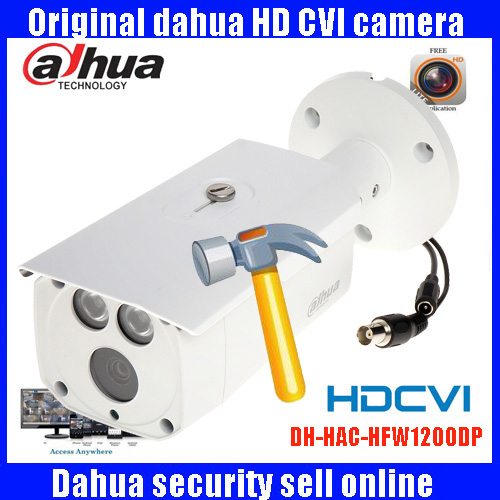 DAHUA HDCVI 1080P Bullet Camera 1/2.72Megapixel CMOS 1080P IR 80M IP67 HAC-HFW1200D security camera DHI-HAC-HFW1200D camera bullet camera tube camera headset holder with varied size in diameter