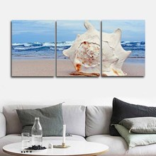 Laeacco Canvas Calligraphy Painting 3 Panel Abstract Baker Posters and Prints Sea Wall Art Pictures for Living Room Home Decor