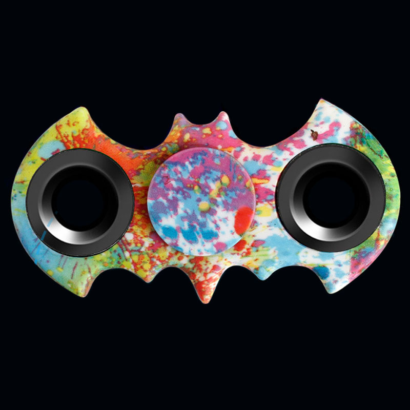 2017 colour Batman Tri Spinner Fidget Toy Plastic EDC Hand Spinner For Autism and ADHD Rotation