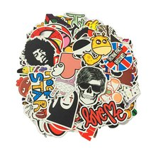 25 Pcs lot fashion PVC funny stickers toys for Travel Suitcase Bomb Wall Pencil Box Car