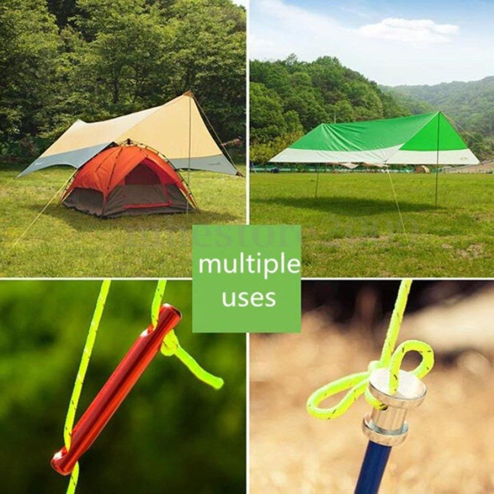 5mm 10m Réfléchissant Guyline Canopy Tente Corde Guy Ligne Camping Cordon