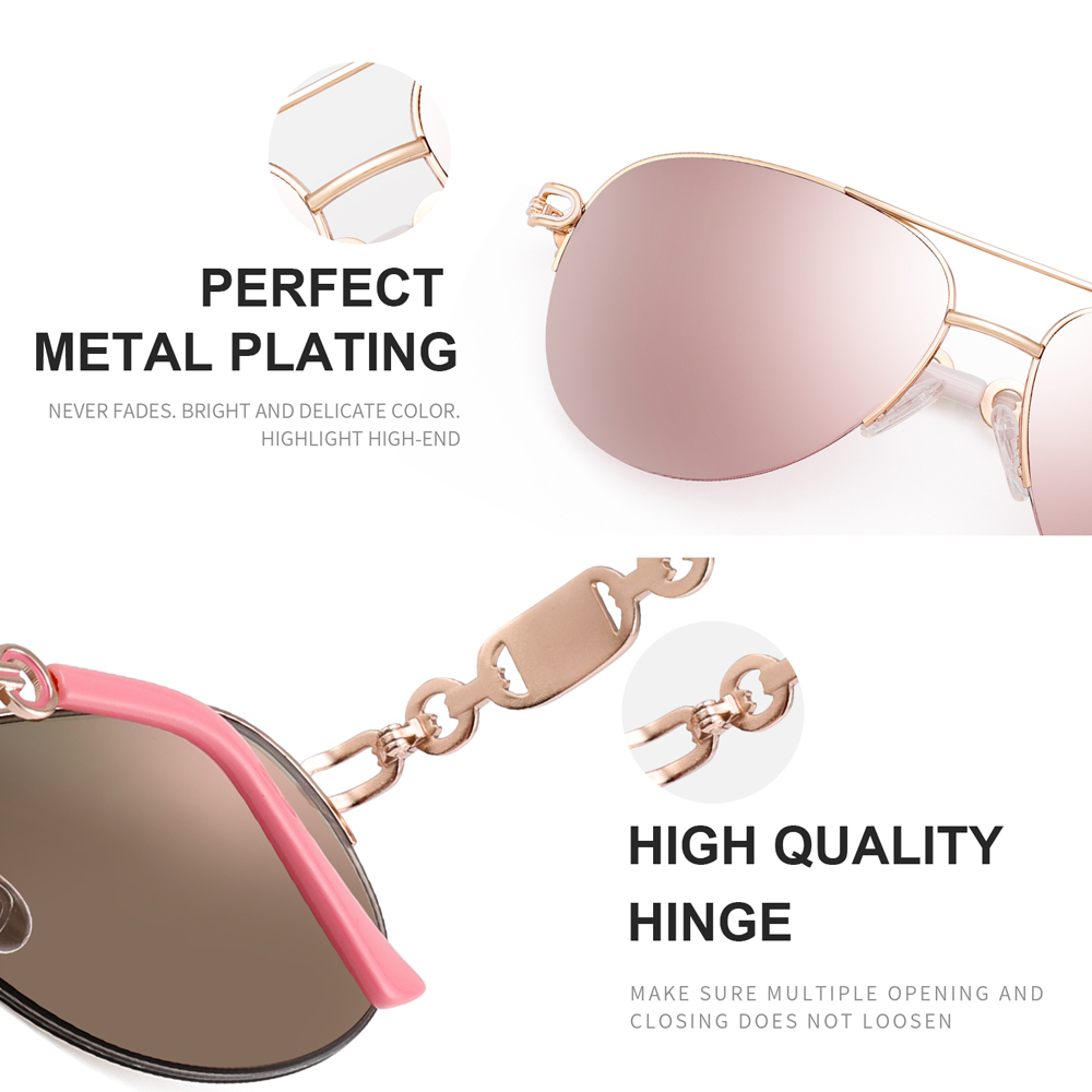 FENCHI sunglasses women uv 400 oculos female glasses sun glasses mirror Pilot Pink feminino zonnebril dames gafas de sol mujer 4