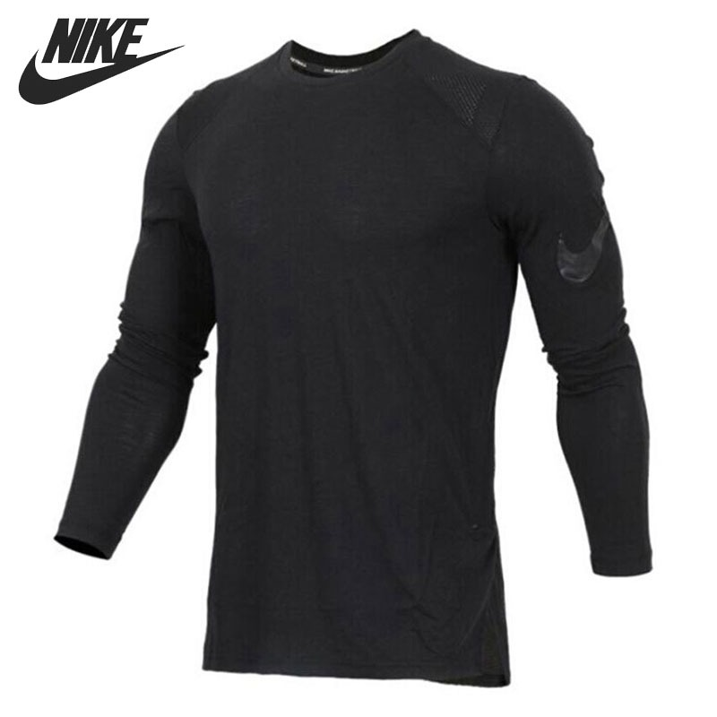 Original New Arrival 2018 NIKE Breathe Elite Men's  T-shirts  Long sleeve Sportswear чулок д щитков nike guard lock elite sleeve su12 se0173 011 m чёрный