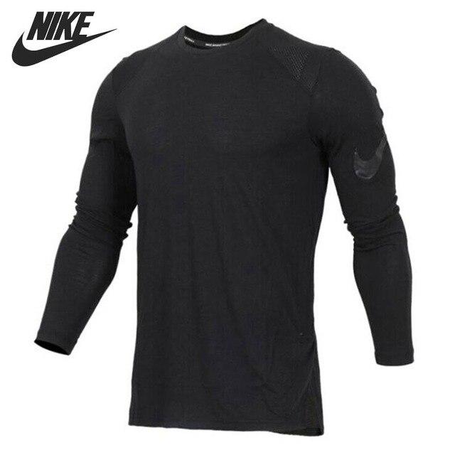 25ea412c8286 Original New Arrival 2018 NIKE Breathe Elite Men s T-shirts Long sleeve  Sportswear