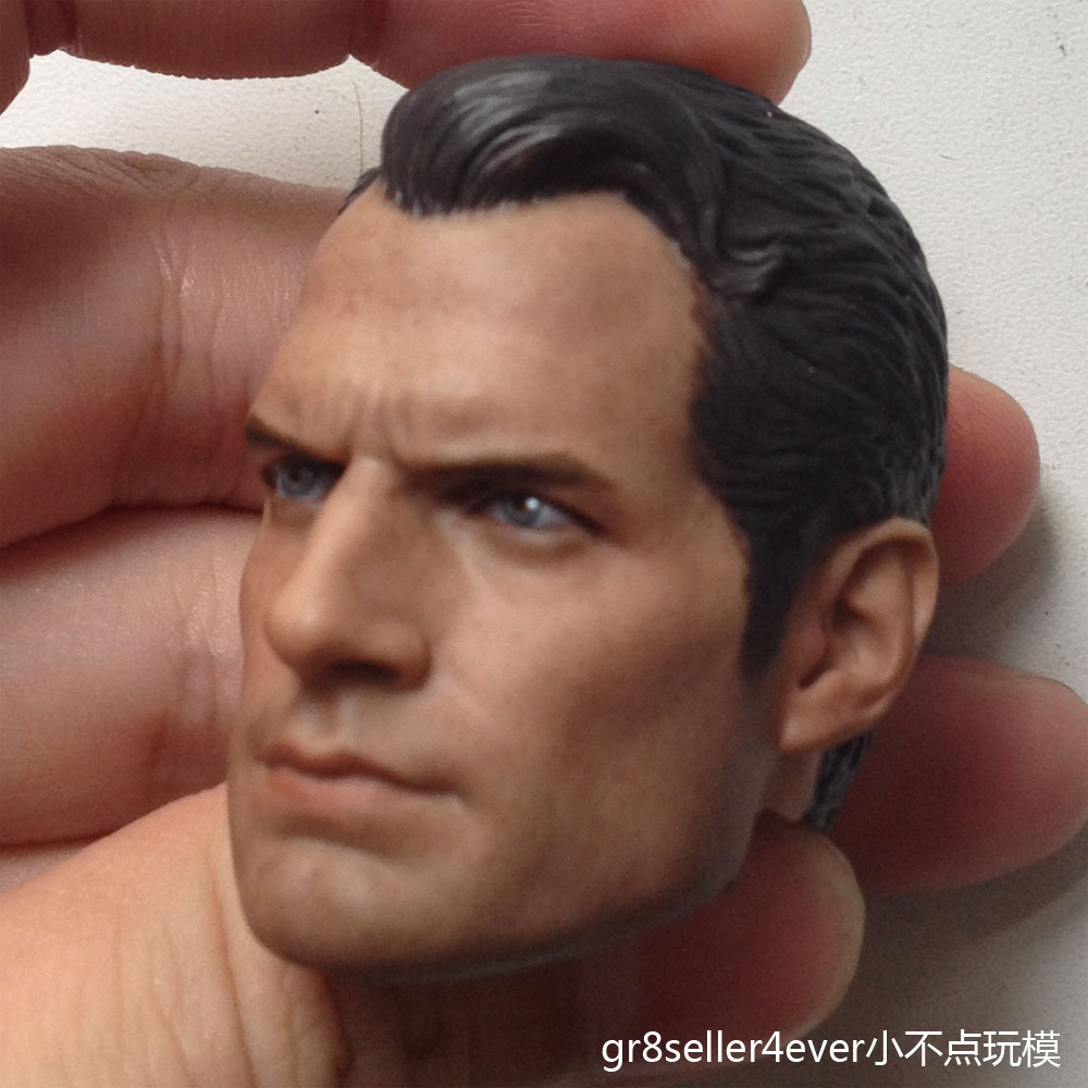 Custom 1//6 Scale Henry Cavill Batman v Superman 2 Head Sculpt For Hot Toys Body
