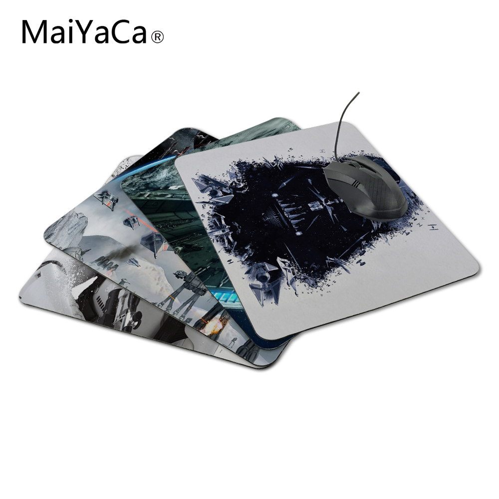 MaiYaCaLuxury Printing Custom Star Wars Cool Darth Vader Design Durable Game Gaming PC Anti-slip Mouse Mat for Optical/Trackball image