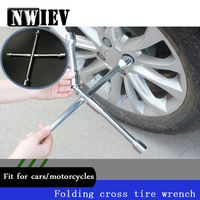 NWIEV Cross type Folding Wrench Car Repair Tools For Kia Rio K2 Ceed Lexus Lada Granta Hyundai tucson I30 IX25 creta Accessories