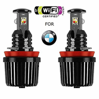 Angel Eyes for BMW E60 projector Wifi/Bluetooth RGB Halo Error Free LED Marker Lights Bulbs for E91 E92 M3 E93 E61 touring