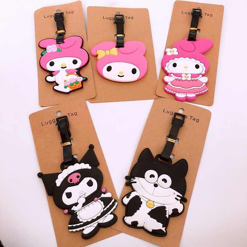 Anime olá kitty Viagem Sapo dos desenhos animados homem Chaveiro chaveiro de borracha macia DO PVC bagagem tag cartão de embarque saco tag de suspensão llavero