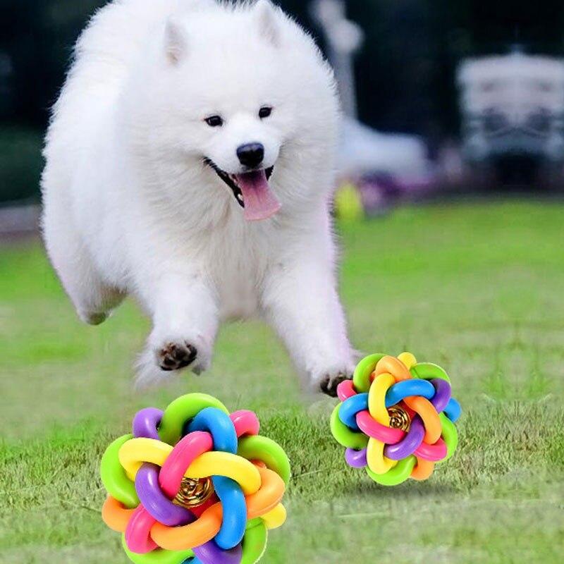 Bola colorida del animal doméstico del gato del perro de juguete ...