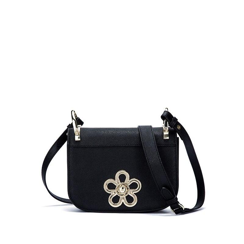 ФОТО 2017 New classic small flap messenger bags lady split leather handbags women flower crossbody bags for female bolsas qn106