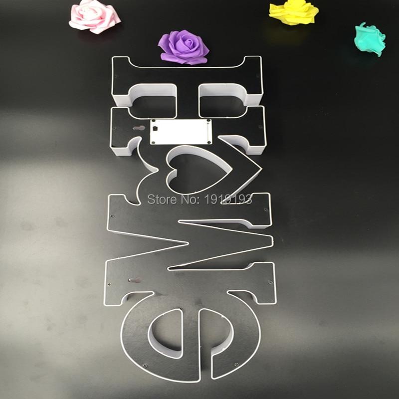 Главная письмо светодиодный открытый фестиваль лампа знак ночник для свадебного декора Алфавит свет Крытый украшения стены свет письма