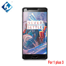 2PCS/LOT New Premium Tempered Glass Film For One Plus Three 5.5inch lhoyern Brand Screen Protector For 1+3 1 plus 3 One plus 3