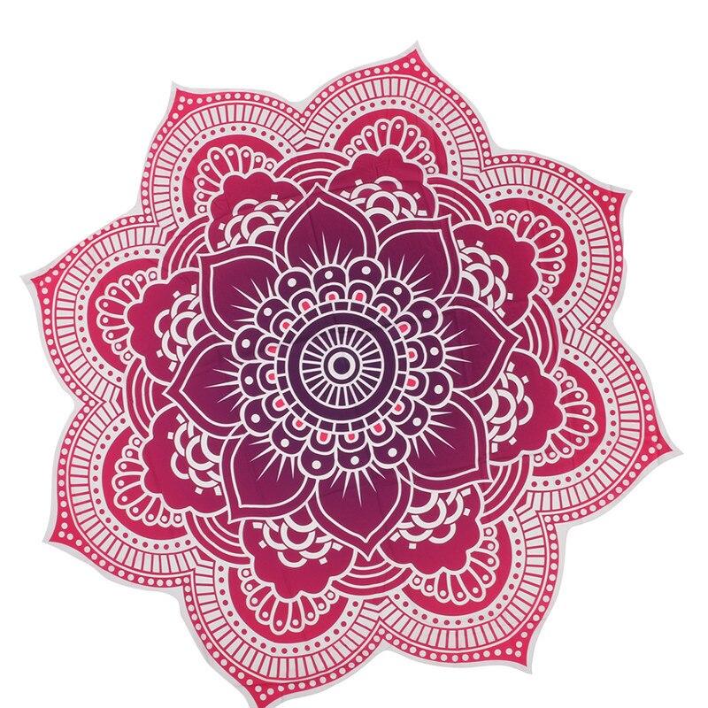 Round Beach Towel Indian Mandala Tapestry Beach Hike