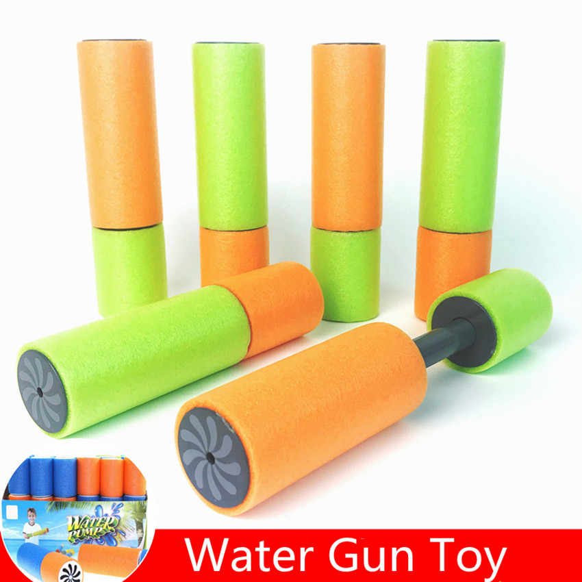 1PC Foam Water Pistool Shooter Super Kanon Kids Toy Water Shooter Voor Kinderen Strand Water Guns Willekeurige Kleur