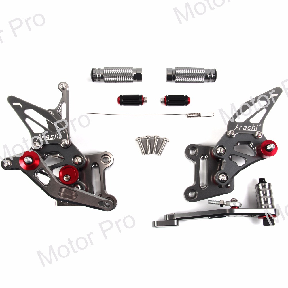 цена на Adjustable Footrests For SUZUKI GSXR 1000 2017 2018 GSX R GSX-R GSXR1000 Motorcycle Foot Pegs Rests Rearset Rear Set Pedal GRAY