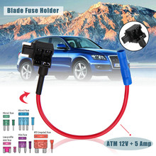 все цены на 1pc Piggy Back Fuse Tap Micro Low Profile Blade Fuse Holder ATM 12V + 5 Amp Fuse Car Auto Accessories онлайн