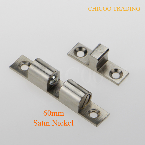 Aliexpress.com : Buy 60mm Brass Satin Nickel Double Ball Catch ...