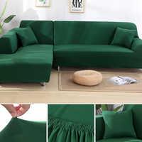 Bon pièces 2 pcs couvertures pour L en forme de canapé salon coin canapé couvre sectionnel Chaise Longue canapé housse élastique extensible