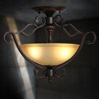 IWHD железные лампары De Techo Ретро светодиодный потолочный светильник гостиная кафе бар плафон спальня плафон лампа для дома Освещение светил