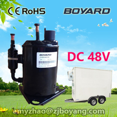 zhejiang boyang r134a brushless chiller 12v dc fridge compressor 48vdc compressor for portable mobile dual zone car freezer