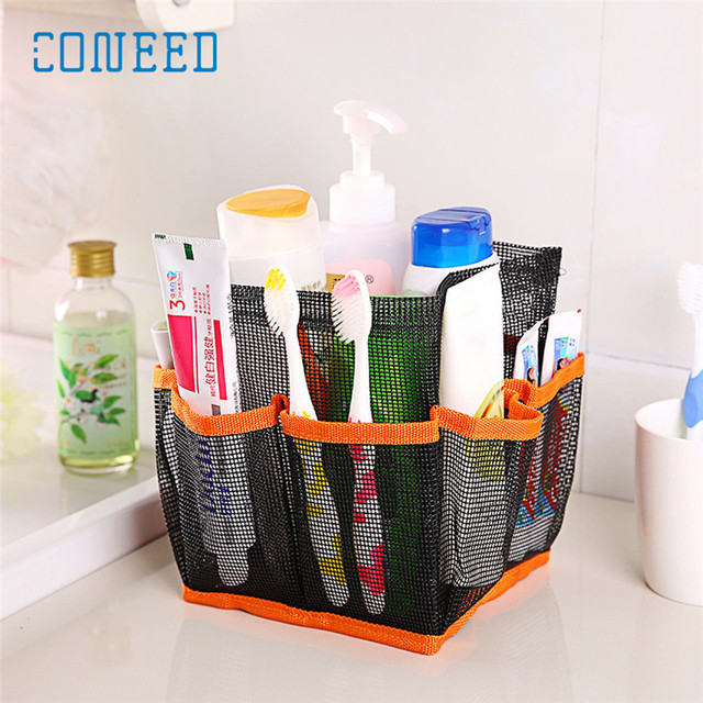 Quick Dry Storage Bags Hanging Mesh Bathroom Bag Shower Tote Caddy ...