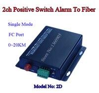 2D Security IR Beam Alert To Fiber Media Transceiver 2ch Positive Switch Alarm Optical Converter Single