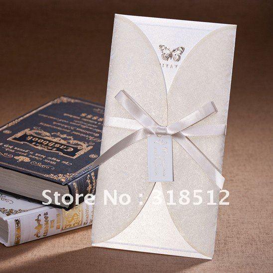 New Arrivel ~ Elegant Butterfly Wedding Invitations With Ribbon ...