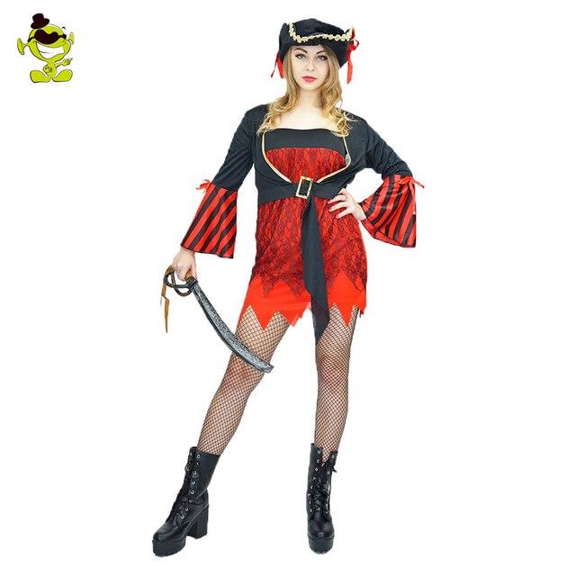 27f4485fc216 Carnevale Prestazioni di Alta Qualità delle signore Spagnolo Pirate Costume  Donne Pirata Festa di Halloween Vestito
