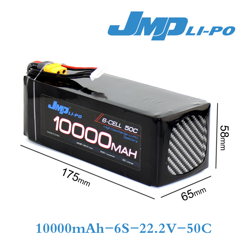 JMP Lipo Battery 6S 10000mAh Lipo 22.2V Battery Pack 50C Battery for Helicopters RC Models akku Li-polymer Battery 7 4v 500mah 50c lipo battery