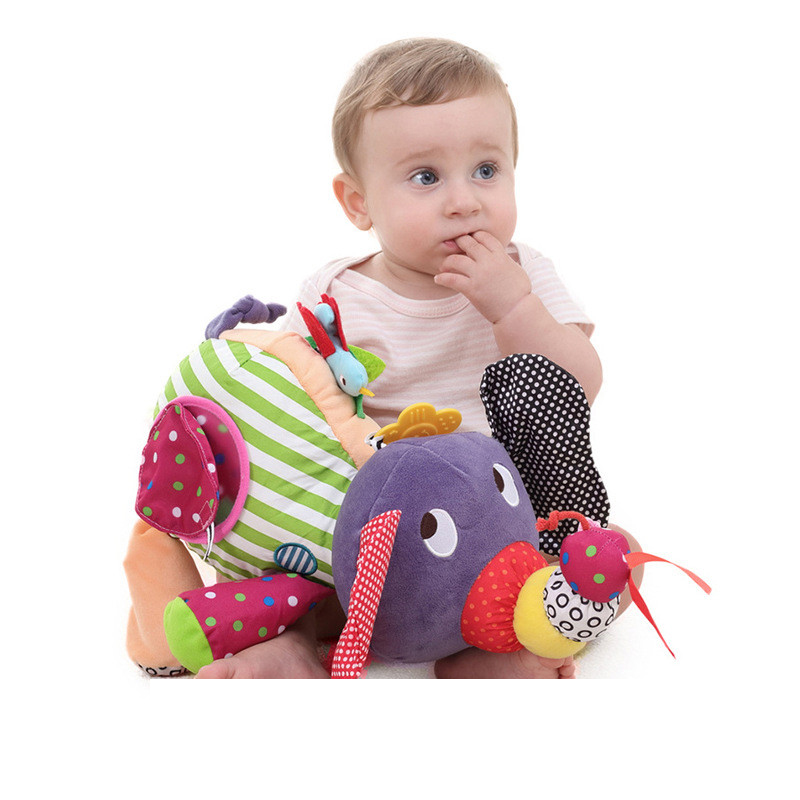 40 cm Multifunction Sound Infant Soft Appease Elephant Playmate Calm Doll Baby Appease Toys Elephant Pillow Plush Stuffed Doll