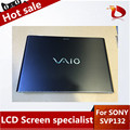 High quality LCD Screen With Touch Panel For Sony Vaio Pro 13 SVP132 SVP13 Whole Upper Half with Matte Protector Film (Black )